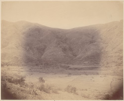 View of valley showing site of stupa at Loriyan Tangai, Peshawar District